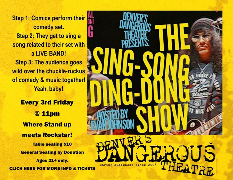 Sing-song ding-dong tickets at Dangerous Theatre