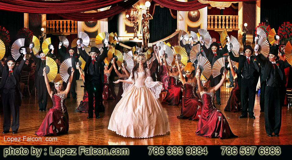 Quince Phantom Of The Opera Masquerade Themed Quinceanera