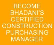 BHADANIS CONSTRUCTION PURCHASE MANAGER COURSE IN DELHI INDIA KOLKATA GHAZIABAD UTTA RPRADESH