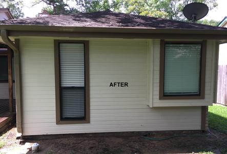 exterior house washing siding in Cypress Texas after