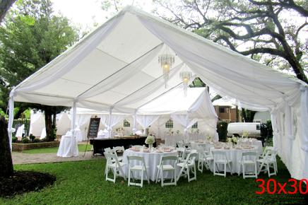 BACKYARD WEDDING CANOPY