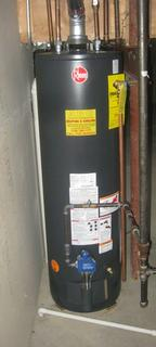 (new hot water tank)(new water heater)