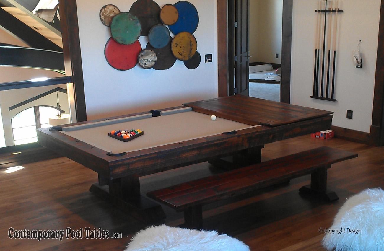Rustic Pool Tables Rustic Billiard Table Rustic Pool Table - Rustic modern pool table