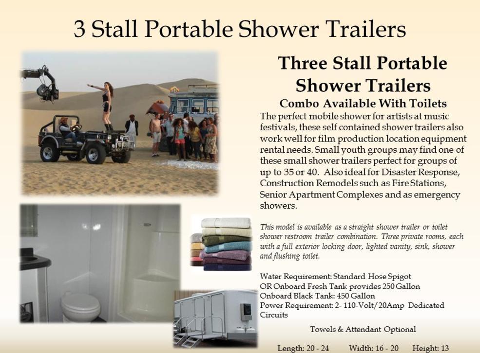 portable shower trailer rentals vip shower trailers