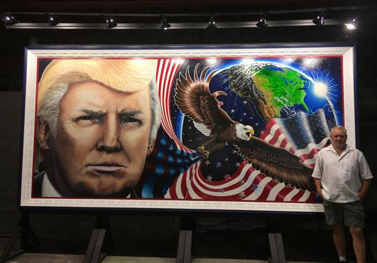 Julian Raven Artist Painter of the Trump Painting Unafraid And Unashamed