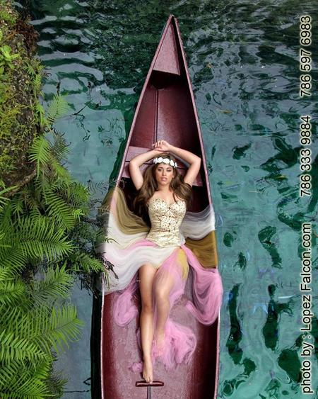 quinces photography canoe secret gardens video dresses dress Miami florida