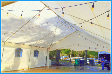 STRING LIGHT DECORATED TENT