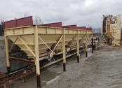 Four 12'13' Stationary Cold Feed Bins for Asphalt Plant