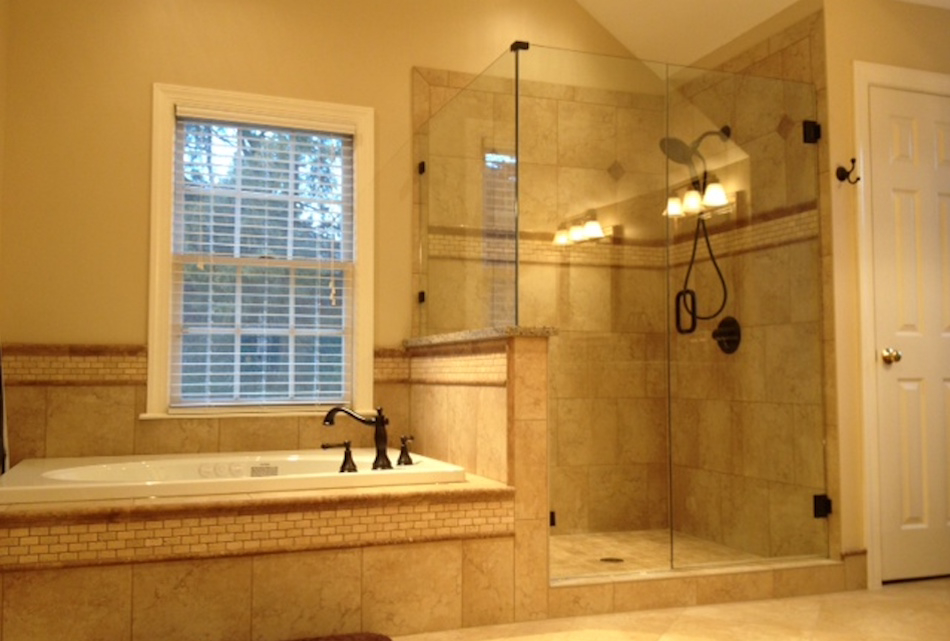 carolina sgo frameless glass shower doors frameless shower door enclosures custom mirrors - Frameless Glass Shower Door