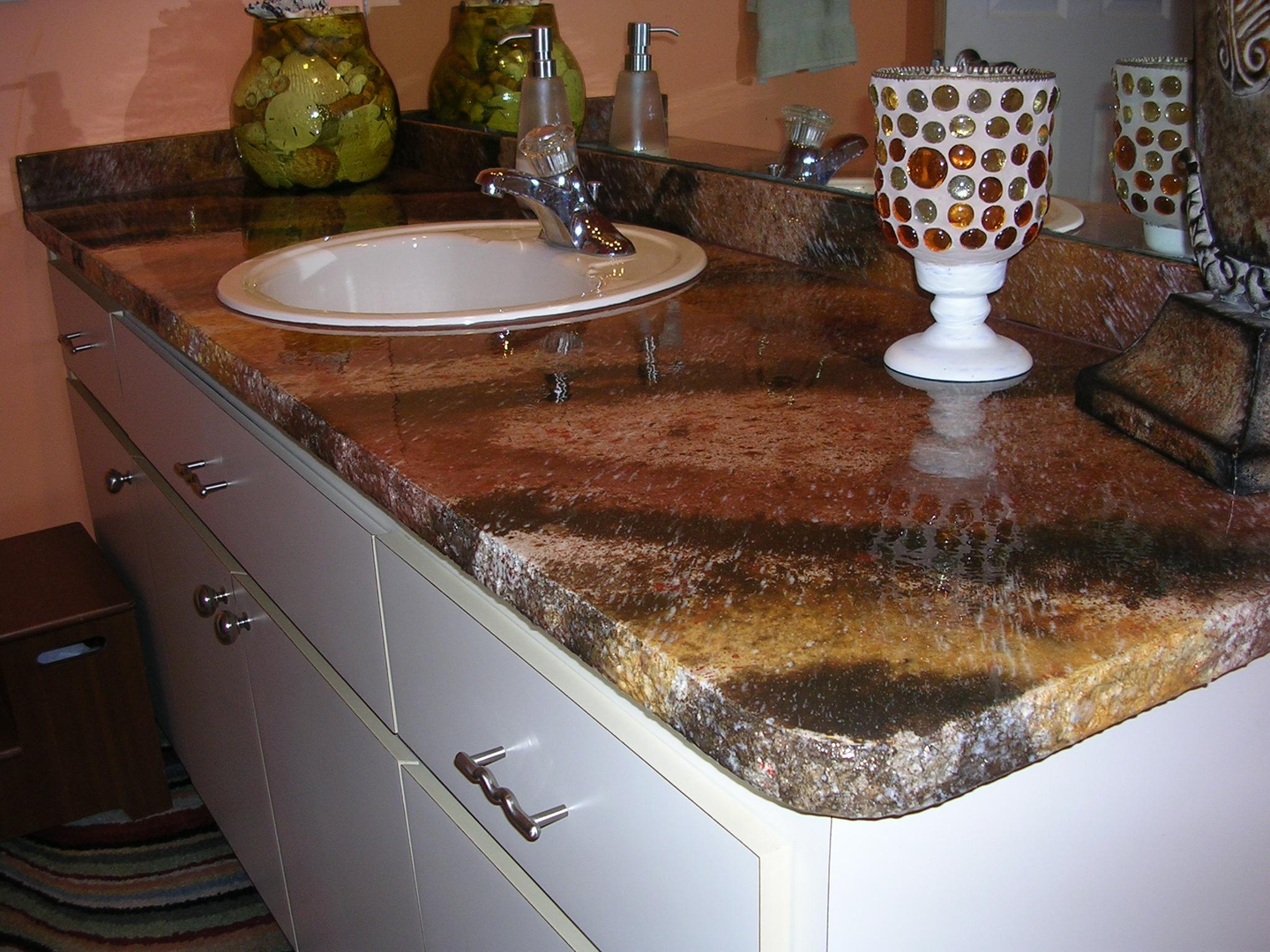 in sink diy granite the kitchen countertops paint countertop used home part mommy modern