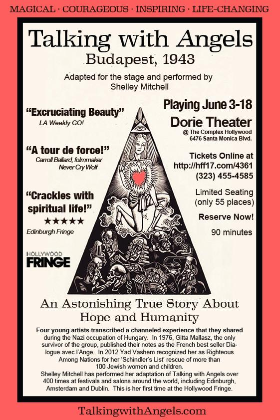talking with angels at the 2017 Hollywood Fringe Festival