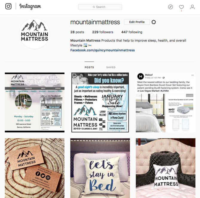 Instagram @MountainMattress