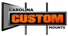 Charlotte Flat Screen tv mounting service, Carolina Custom Mounts logo.