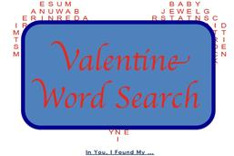 Valentine Word Search Puzzle