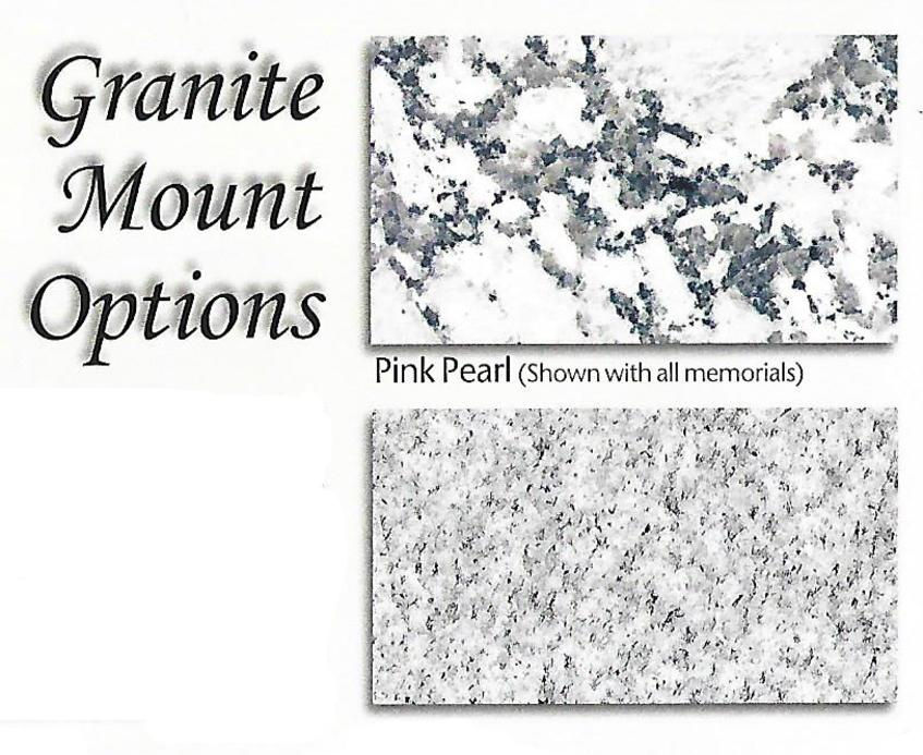 Bronze granite base selections