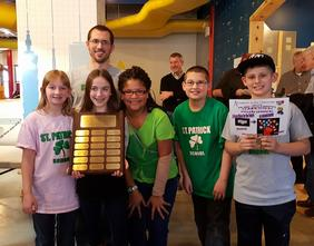 students with Rube Goldberg award