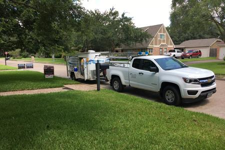 exterior house washing in Houston Texas