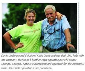 Katie and Jim Davis of Davis Underground Solutions