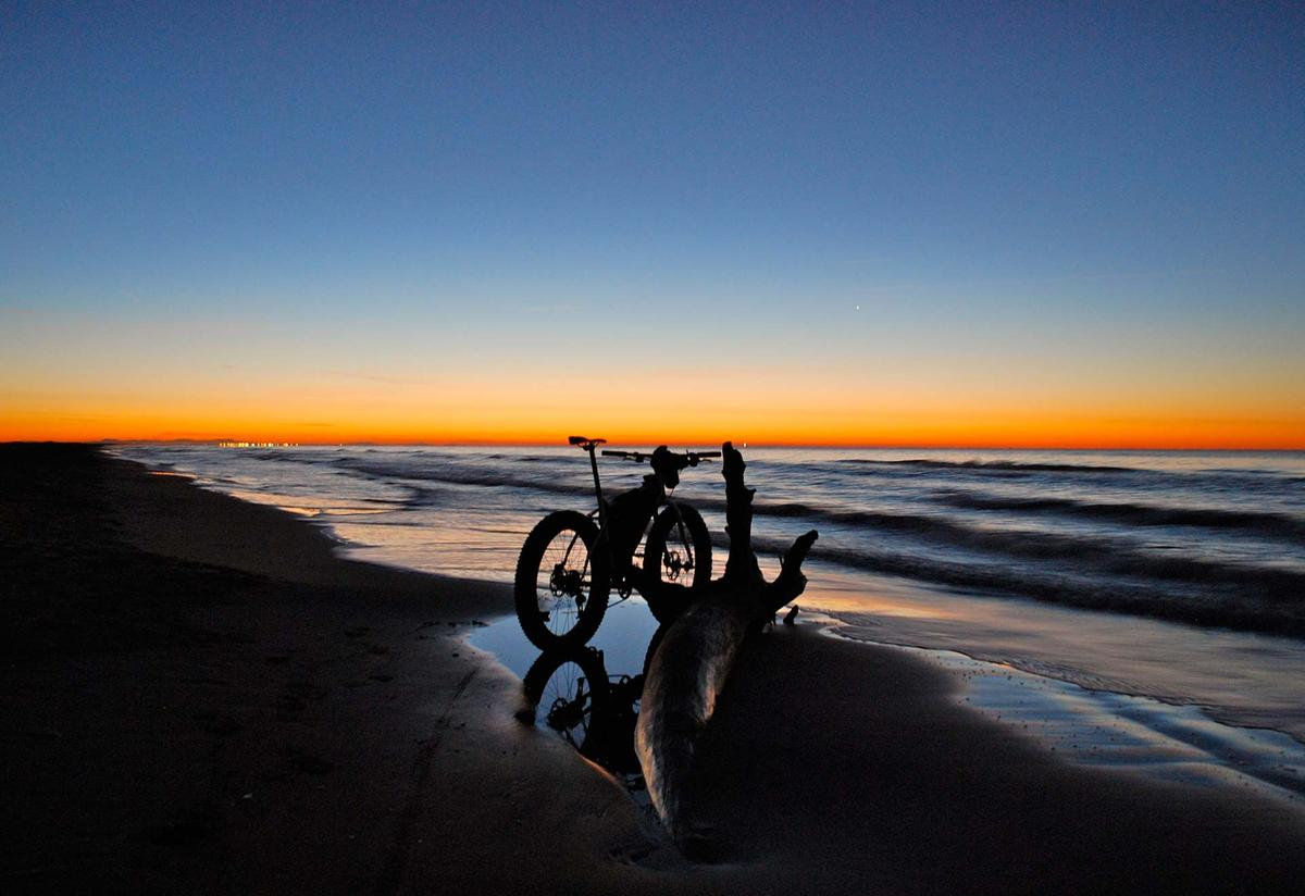 Fat Tire Bike on the Sunset Beach!