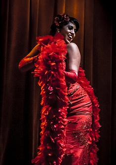 Coco Lectric on the Houston Burlesque Stage