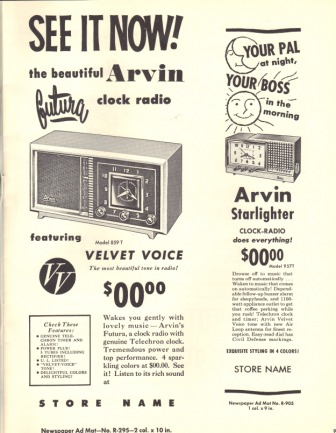 Arvin Radio 1957