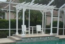 Pool-side pergola for a Florida home.