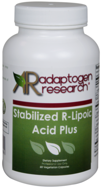 Adaptogen Research, Stabilized R-Lipoic Acid Plus