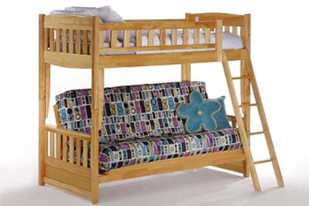 "Lovely CINNAMON TWIN FUTON BUNK BY NIGHT & DAY FURNITURE "" Beautiful - Awesome Bunk Bed and Futon Lovely"