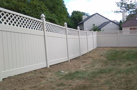 vinyl privacy fence Hilliard Ohio