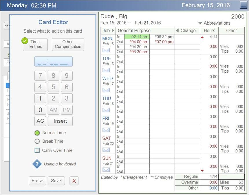 Time Card Calculator Payroll Reports Timesheet Report  Payroll