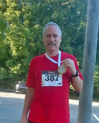 Craig Roll 2nd Place Medal August 2016 5K Run