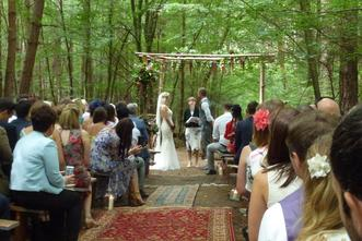 woodland wedding, outdoor wedding