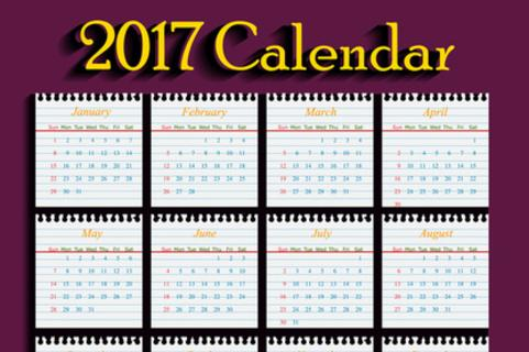2017 Anthem Authors master calendar
