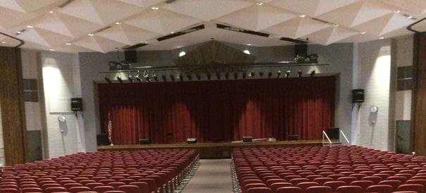 An example of our custom stage curtains in the southern states