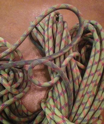 Stone Adventures - Joshua Tree Rock Climbing Guides - Beal Edlinger II Rock Climbing Rope Dirty