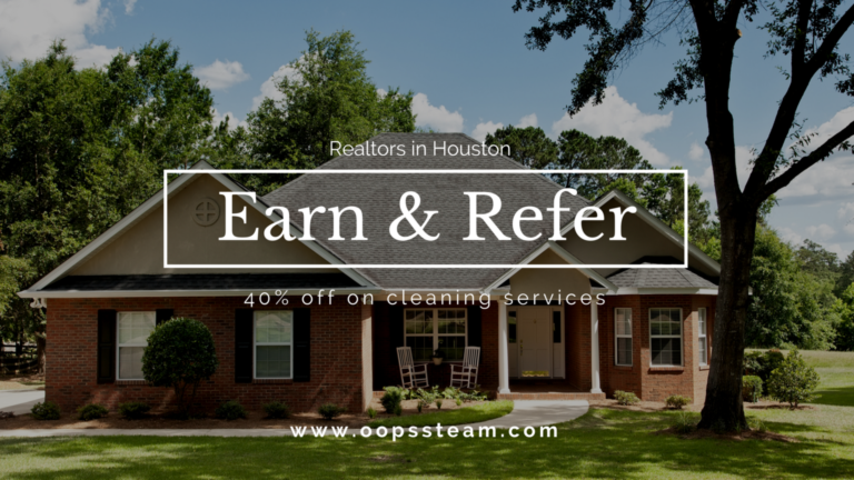 oops steam cleaning special offers for realtors, residence in Houston TX featuring cleaning services