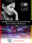 Sad woman and vehicle crash from Don't Shatter the Dream campaign