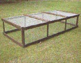 Free standing chicken run available from Chickenfeathers in Shotts, Scotland