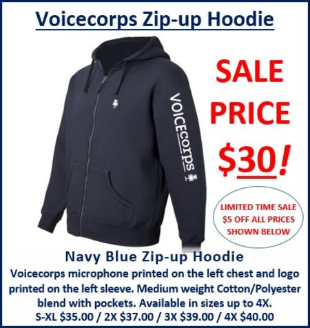Voicecorps Zip-Up Hoodie