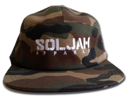 SolJah Camo 5 Panel Hat