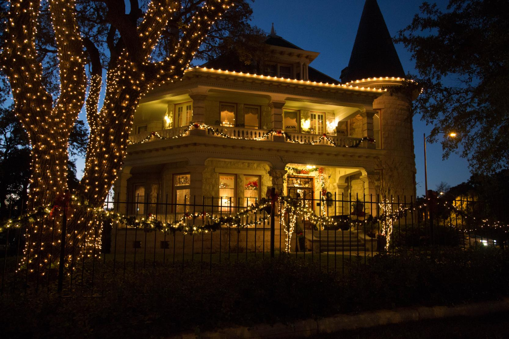 The Daniel H. Caswell House is home of the Austin Junior Forum and their annual Christmas at the Caswell House event. The house is beautifully decorated for the holidays.