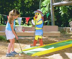 Miniature Golf Course at a Nashville Company Picnic