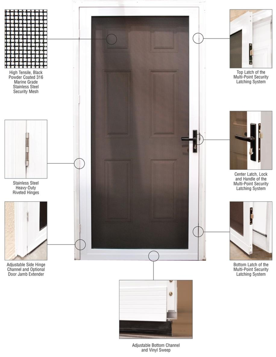 Security Screen Doors For Homes By California Security