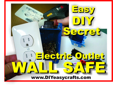 DIY Electric Outlet Wall Safe. www.DIYeasycrafts.com