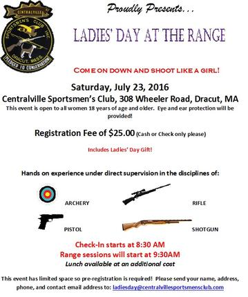 Ladies Day Shoot July 23rd