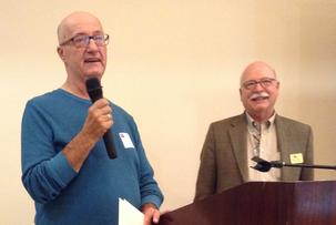 Volunteer Bill Macuri and VVCC's Kent Ellsworth