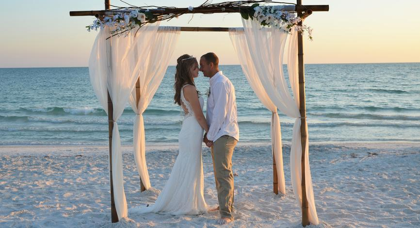 Sarasota Beach Wedding - Lido Beach