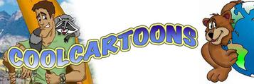 cool cartoons banner logo