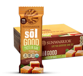 Quality Protein and Great ingredients Make for the Best Sol Foods You're always in motion. Fuel that active life with 17 to 19 grams of plant-based protein per bar. Made with healthy, organic ingredients that taste like sunshine and joy. If you aren't sure what those taste like, we make it clear with our flavor lineup. Cinnamon Roll, Salted Caramel, Blueberry Blast, and Coconut Cashew will be your new go-to proteins. Sōl Good! Sōl Delicious! Bars come in packs of 12, which means there are three of each flavor in the variety pack. If you would like to try the individual bars, give us a call at 1-888-540-3667 right away. We'll send you a sample 4 pack mixed and matched any way you would like for just $9.99! Your high octane lifestyle demands more, and you deserve something with Sōl. Suggested Use Step one: remove wrapper. Step two: eat bar. Please make sure you master step one. The bars taste much better when you do.