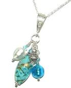 Murano Glass Bed of Roses Multi Drop Pendant